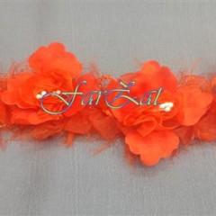 Aplicatie cu flori pe elastic (2)