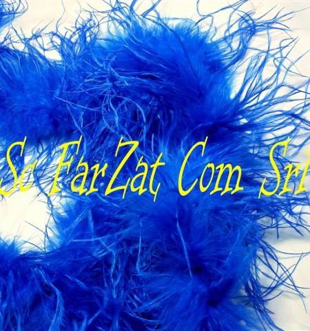 Marabu din pene de strut albastru (1)