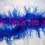 Marabu din pene de strut albastru (3)
