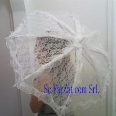 umbrela alba din dantela cu volanase cod 19 (1)